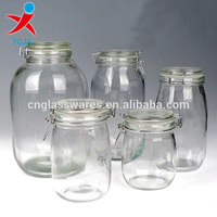 decorative glass mason jar with swing top