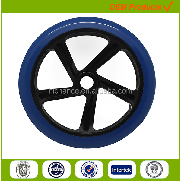 200mm polyurethane wheels for wheelchair wheel