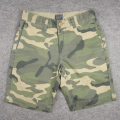 Factory whloesale Mens camo print shorts custom design cotton twill shorts men