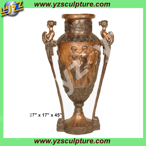 cast Chinese style antique bronze vase for home decoration