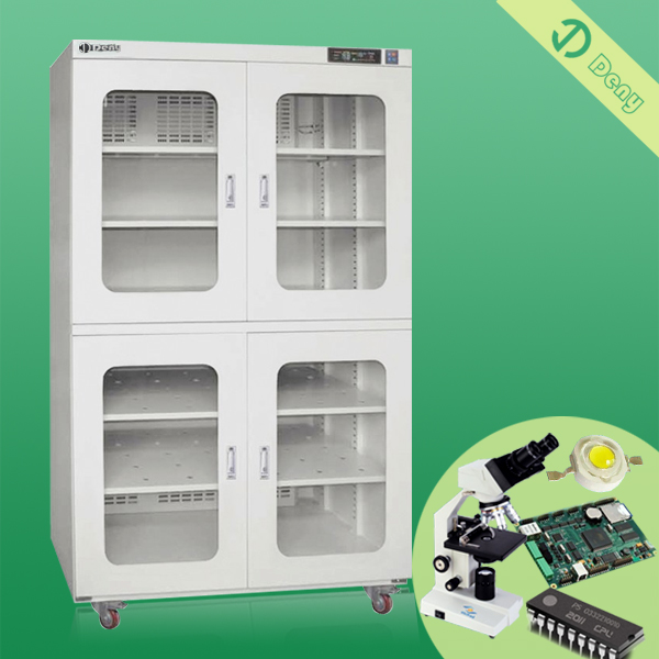 Extra-large dry cabinet provides humidity-controlled storage for moisture-sensitive devices