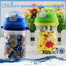 Transparent Flat Plastic Water Bottle