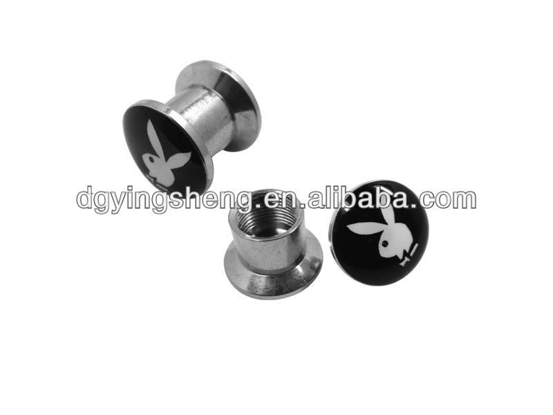Playboy piercing stainless steel 8mm flesh tunnel