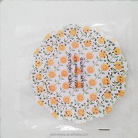 "Distinguished sunflower table placemats offset / Food-grade paper round lace paper doilies 8.5"" for restaurant"