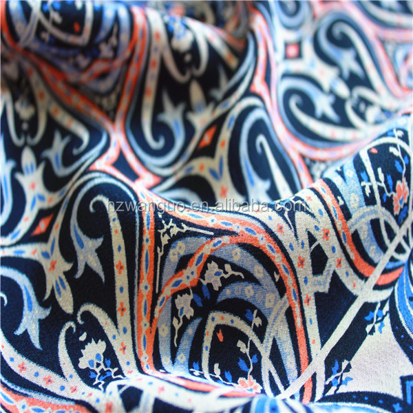 Newest Style Print Silk on Fabric