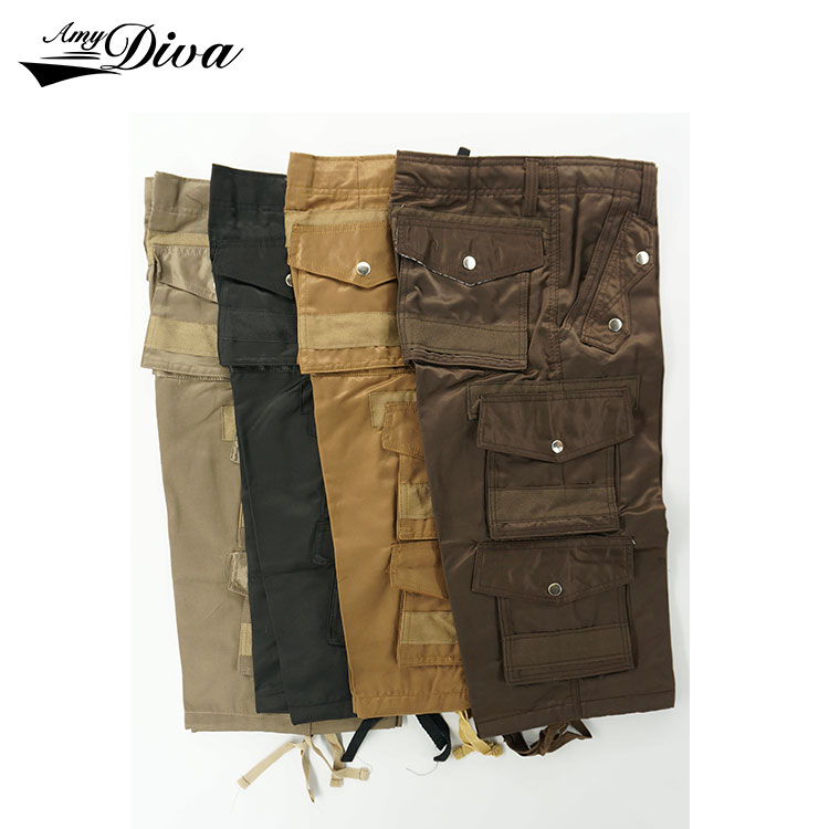 New pattern latest style men pants , wholesale pure cotton hiking six side pockets casual man cargo shorts pants