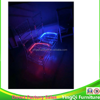 Changing Color LED Lights Crystal Acrylic Tiffany Chiavari Chairs Party Chairs