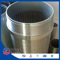 continuous slot stainless steel Johnson well screen/water well casing pipe