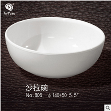 Catering use white round plastic melamine salad bowls
