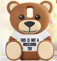 Cell Phone Bag 3D Cute Cartoon Brown Bear Soft Silicone Rubber Case for iPhone 5s 5 Galaxy S5 Note 3 Note 4 Cover