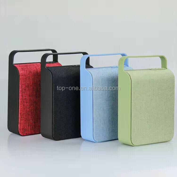 New innovative product 10W bluetooth fabric speaker, fabric wireless bluetooth speaker with handle