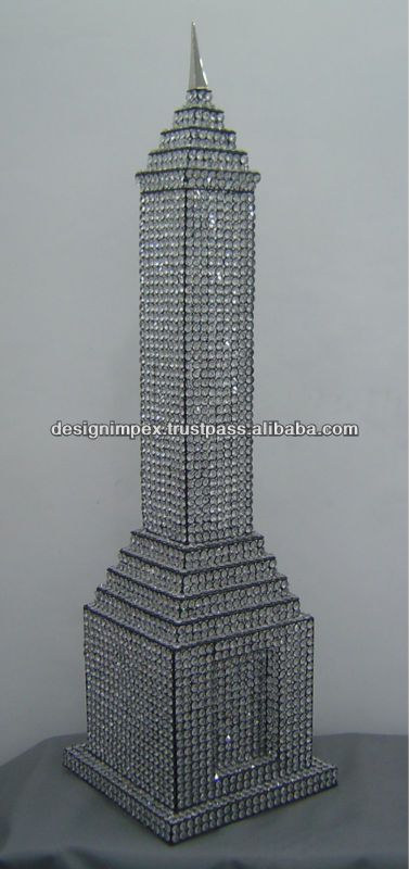 Decorative Crystal Empire State Tower/ Home Decor/ Table top for Home/ Hotel/ Office / promotional & Corporate Gifts/Showpiece