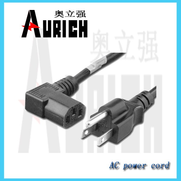 electric cable reel power cord,NEMA male plug IEC female plug ac cable