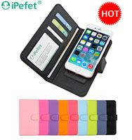 Wholesale Universal Smart Flip PU Leather Wallet Case For iPhone 6/s
