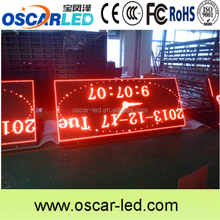 Outdoor/semi-outdoor red color p10 double sided one face screen front flip access led display