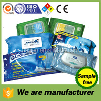 wholesale multifunction wet wipes& tissue, refreshing towels/china manufacturer sample free/alcohol free non-toxic/