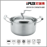 Tri-ply Stainless Steel Cookware(Stockpot,Soup pot, with Lid) JN-TG-2007