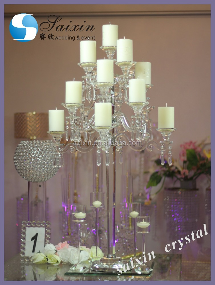 Gorgeous 17 arms wedding decor large candelabra votive candle holders ZT-183