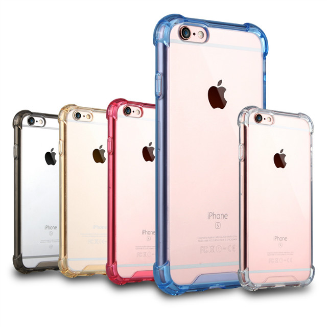 Luxury Shockproof Clear Transparent Crystal Hard back TPU PC Plastic Cell phone Cover Case for iphone 5