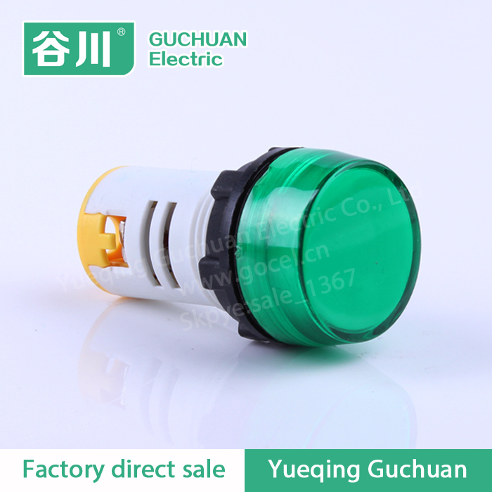 Supply 22mm all kinds of voltage switch LED indicator light plastic push button AD16-22BS
