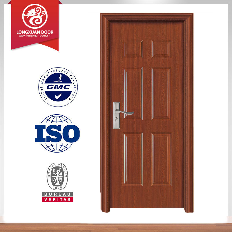 MDFwooden door panel with tree skin & quality paint