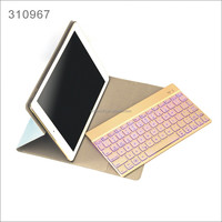 Backlight Backlit Wireless Bluetooth Keyboard Ultrathin PU Leather Case Stand Cover For Apple iPad Air 2