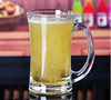 2016 New arrival Drinkware clear glass beer stein with handle