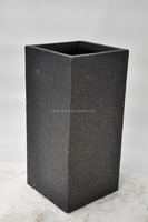 black lightweight concrete cheap flower fiberglass pots