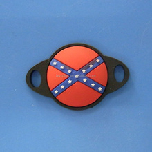 red and blue cross country flag shoe buckle lace for sport shoes