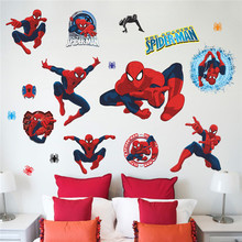 Kid's room decoration spiderman wall stickers