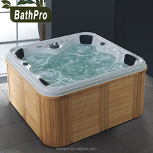 Large size acrylic plastic free standing bathtub with seat for adults