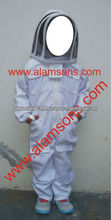 High Quality 100% Cotton Children Beekeeper Suit / Kids Beekeeping Suits with fency veil