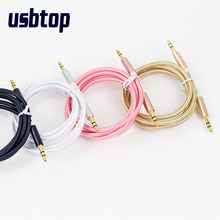 1m/2m/3m Gold Plated Plug 3.5mm Aux Cable Male to Male Audio Cable Line For Car iPhone MP3/MP4 Headphone Speaker