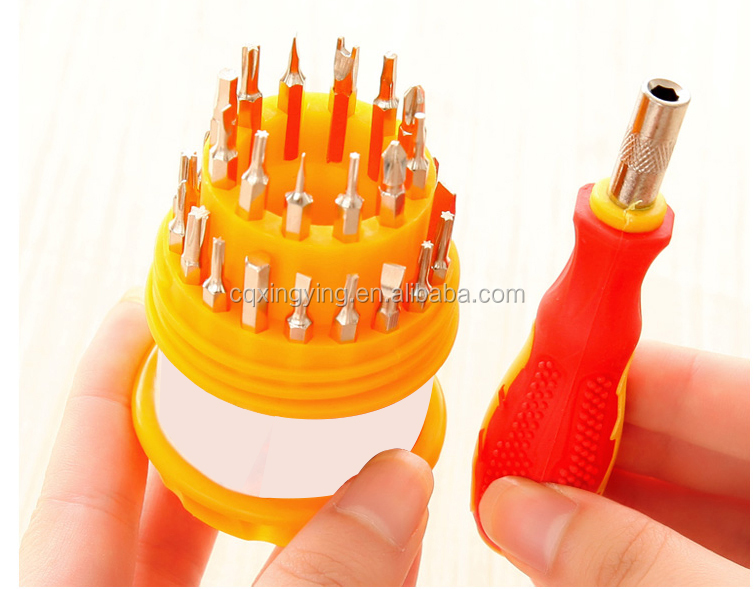 Hardware tools 31-in-1 magnetic screwdriver set
