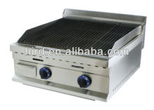 commercial gas lava rock grill GL-368
