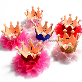 high quality wholesale organza crown flowers