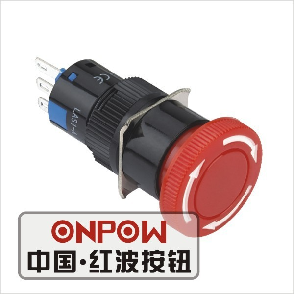 ONPOW 16mm scram push button <strong>switch</strong>(LAS1-AY-11TS) (Dia. 16mm)(CE,CCC,ROHS,REECH)