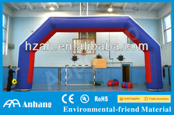 Indoor Sports Use Inflatable Arch for Advertising