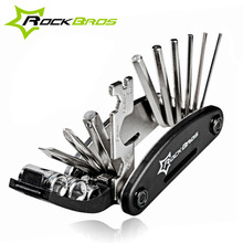 ROCKBROS Wholesale 16 in 1 Pocket Mini Portable Multifunction Bike Bicycle Repair Tools