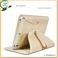 pu leather mobile phone case for ipad mini, Leather Case for ipad cover skin stand case smart cover