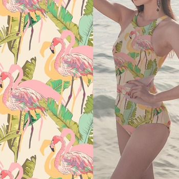 Quick dry printing patterned swimwear stretch swimsuit spandex fabric
