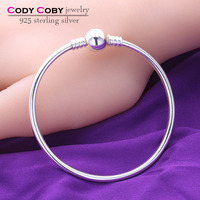 Sex Snake Bangle Bracelet 925 Sterling Silver Bangles Bracelets with Round Clasp for Man And Women DIY Fine Jewelry Wholesale