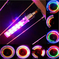 LED Bicycle Light with String Bicycle Lights 5 LEDS Tyre Tire Valve Caps Wheel Spokes LED Light