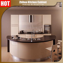 Zhihua high gloss Acrylic indian kitchen cabinet with Elegant design and color combination