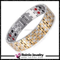 New trending product stainless steel/ titanium healthy magnet negative ion bracelet