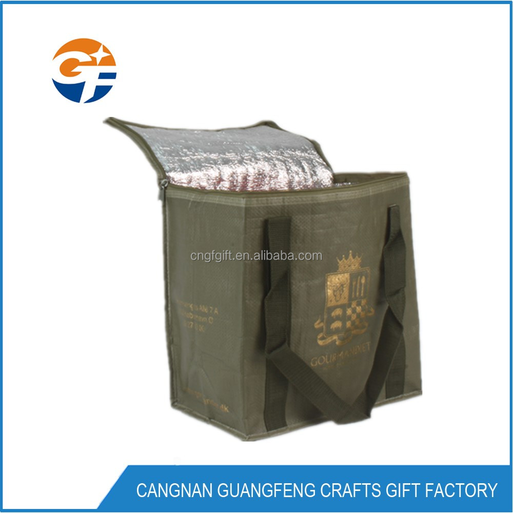 Promotional Wholesale Customized Non Woven Ice Thermal Lunch Insulated Cooler Bag for Frozen Food