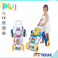 Multifunctional plastic Musical Baby Walking Cart