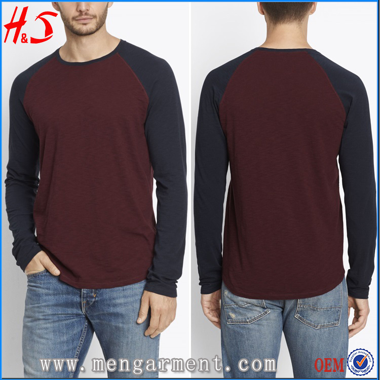 Free Sample Available Mens Apparel Comfort Colors T-shirt Classic Baseball T Shirt