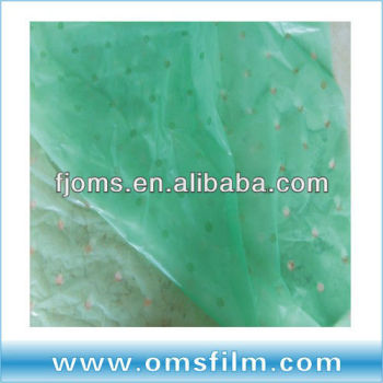 blue yellow colored plastic anti-UV greenhouse covering poros plastic film
