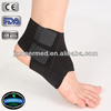 black neoprene elastic comfortable sports plastic ankle brace
